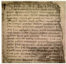 Beowulf is written in Old English